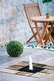 Interline Garten/Terrassen Brunnen Granit-Floorfountain, Marcuba LED, weiß