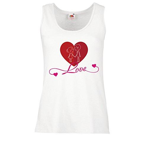 lepni.me Damen Tank-Top Ich Liebe Dich ! Geschenke der Liebe für Ihren geheimen Valentinsgruß (Large Weiß - Englisch Von Halloween In Die Bedeutung
