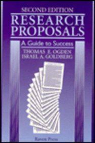 Research Proposals: A Guide to Success by Thomas E. Ogden (1995-04-01)