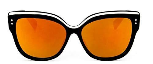 WDDYYBF Sonnenbrillen, Fashion Cat Eye Brille Sonnenbrille Frauen Retro Super Star Sonnenbrillen Herren Sonnenbrillen Uv400 Rot