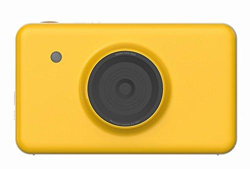 GZZ Polaroid-Kamera, Mobile Fotodrucker mit Bildschirm Bluetooth Vorschau Eines Bildes,Gelb,Einheitsgröße
