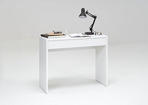 Dreams4Home Schreibtisch \'Lessi\', weiß, Eiche, Konsole, Bürotisch, B/H/T 100 x 80 x 40 cm, Farbe:Weiß