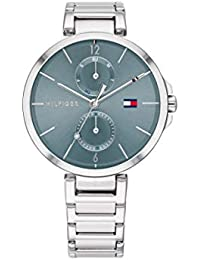 Tommy Hilfiger Damen Analog Quarz Uhr mit Edelstahl Armband 1782126