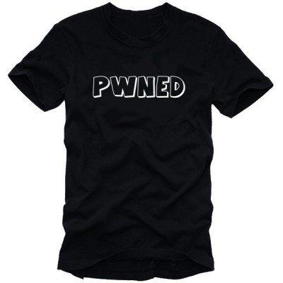 pwned Counter sconfitto/montato maglietta da uomo nero/bianco, XXL