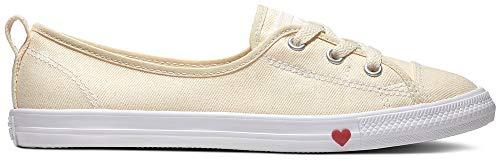 Lace Slip Sneaker (Converse 563494C Ballet Lace Slip Sneaker Beige)