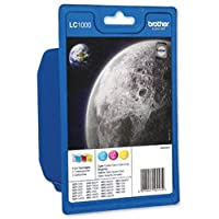 Brand New. Brother Inkjet Cartridge Page Life 1200pp 3 Colour Ref LC1000RBWBP [Pack 3]