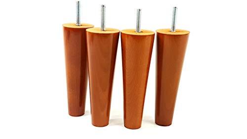 Knightsbrandnu2u 4 x piedini in legno per mobili gambe 150 mm