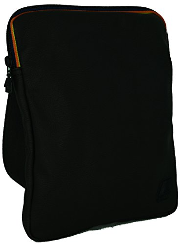 Borsa Borsello Uomo Tracolla K-Way Bag Men k-Pocket Plus Flat Crossover K1C08-Nero
