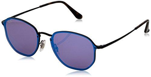 Ray-Ban Rayban Unisex-Erwachsene Sonnenbrille 3579n, Demiglos Black/Darkvioletmirrorblue, 58