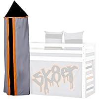 Hoppekids skater torre per half-high letto con telaio, tessuto, grigio - Trova i prezzi più bassi