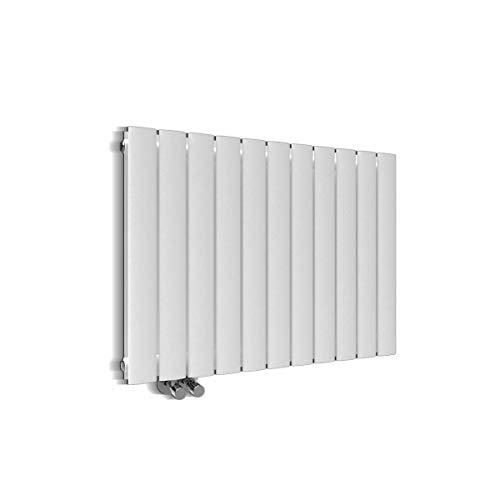 Design Heizkörper 630x847mm Doppellagig Badezimmer/Wohnraum Seitenanschluss Weiß Flachheizkörper Badheizkörper Radiator