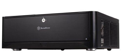 SilverStone SST-GD06B - Grandia HTPC Micro ATX Desktop Gehäuse mit hochleistungsfähigem und geräuscharmen Kühlsystem, schwarz