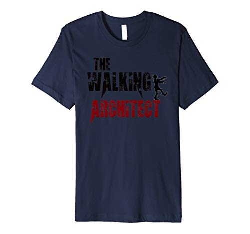 Architekt Geschenk T-Shirts Walking Architektur Zombies Tee ()