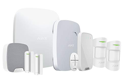 securefied AlarmProtect AIR 140 + PRO-Service | Funk-Alarmanlage Set mit Smarthomefunktion & APP | Alarm Anlage System Bewegungsmelder Magnetkontakt Sirene Feuermelder Security | Powered by AJAX -