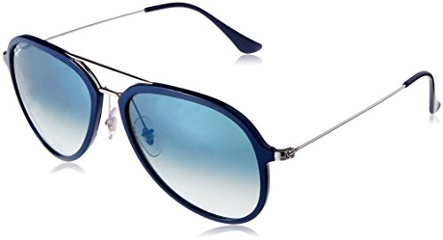 Ray-Ban Unisex-Erwachsene 0RB4298 63343A 57 Sonnenbrille, Blue/Cleargradientgreen
