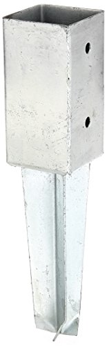 erdhuelsen GAH-Alberts 211851 Bodenhülse für Vierkantholzpfosten - feuerverzinkt, 71 x 71 mm