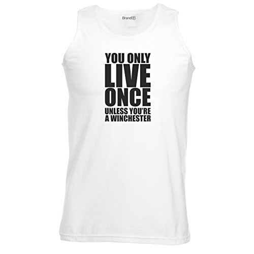 Brand88 - Unless You're A Winchester, Unisex Athletic Weste Weiß