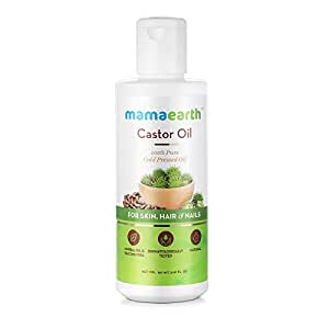 Mamaearth 100% Pure Castor Oil, Cold Pressed, To Support Hair Growth, Good Skin and Strong Nails, 150 ml