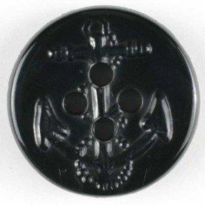 Dill® Bouton de Mode Marine Ancre Noir 32 mm