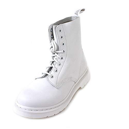 Dr. Martens 1460 Mono Virginia Damen Boots Stiefel Weiss, Schuhgröße:40 EU (Doc Für Martens Mädchen Schuhe)