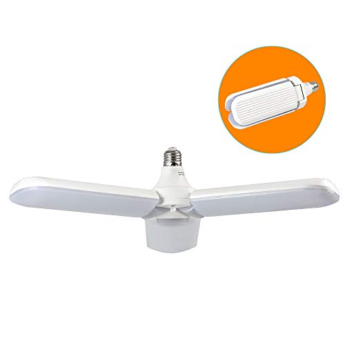 DASKOO E27 - Bombilla LED plegable de repuesto para lámparas halógenas de 360 W, 45 W, luz blanca fría, 3200 lm, AC 85-265 V