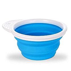 Munchkin Go Bowl Silicone Feeding Bowl - Blue