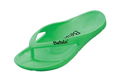 Betula from Birkenstock 1002403 - Damenschuhe Pantolette / Zehentrenner, Schwarz, Neon Green