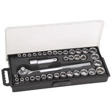 Set de douilles avec clé 40 pièces avec clé à cliquet 3/8 \