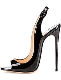 EDEFS Femmes Artisan Fashion Sandales Décolletés Bout Ouverts Chaussures à Talon  Haut de ... 5642113efbed