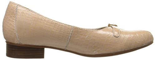 Clarks Keesha Raine Kleid Pump Nude Croc Patent Leather