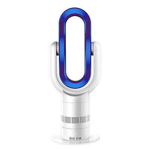 Lüfter-, Heizungs- und Kühlungslüfter ohne Flügel Kein Blattkühler Ultra-leiser, flügelloser Tischlüfter für Haushalts-Timing-Schüttelkopf,Blue