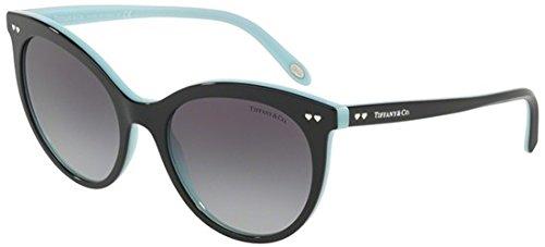 Tiffany 0ty4141 80553c 55, occhiali da sole donna, nero (black/blue/greygradient)