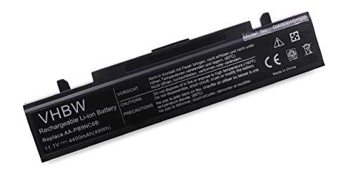vhbw Batterie LI-ION 4400mAh 11.1V Noir Compatible pour Samsung E-, P-, Q-, R-, RF-Serie remplace AA-PB9NC6B, AA-PB9NS6B, AA-PB9NC6W
