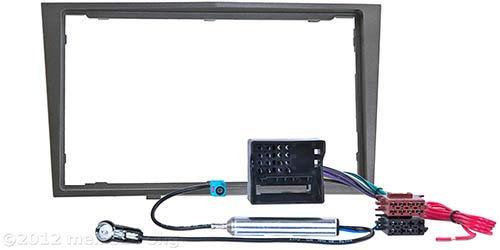 meins24 ohg - Módulo doble DIN (compatible con OPEL Astra H, Corsa D, Zafira B, Antara, Tigra, Astra Twin Top), color gris metálico