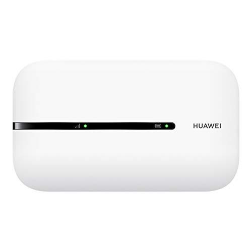 Huawei Mobile Wi-Fi 3s 4G LTE (CAT4), Velocità di Download 150 Mbps, Batteria Ricaricabile da 1500 mAh, Nessuna Configurazione Necessaria, Wi-Fi Portatile Abilitato, per Viaggio e sul Lavoro, Bianco