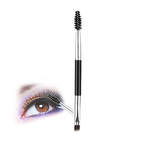 Makeup Brushes Double Head Brush Silver-black double-headed eyelash brush eyebrow brush mini Eyelash Eyebrow