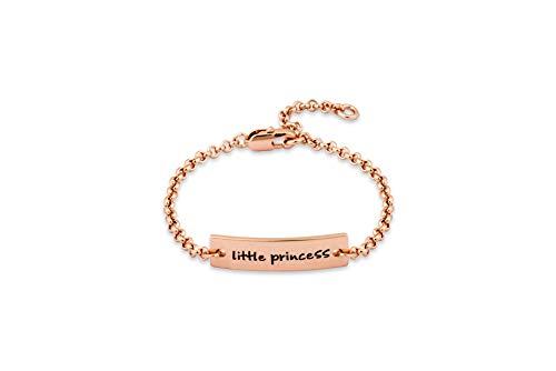 Baby-Armband, kleine Prinzessin, Taufgeschenk (erhältlich in Rosegold, Gold und Silber).