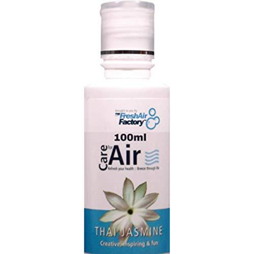 Duft für Luftreiniger - CareforAir Thailändisch Jasmin Essenz 100mL -duftend süß Blumenmuster Duft - Verstärker Energie - Entlastung Angst Und Stress - Beruhigt The Senses - VERWENDUNG IN DER REVITALIZERS, IONISATOREN, LUFTBEFEUCHTER - 100% Produkt Zufriedenheit Garantie -