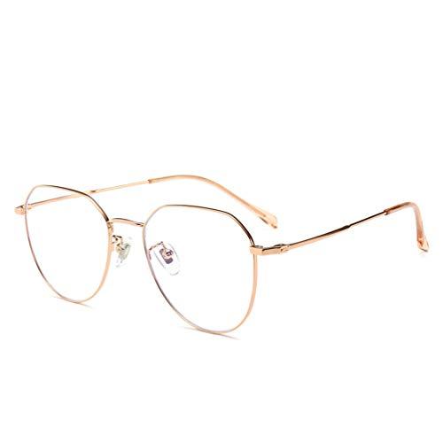 Reading Glasses HD, Beobachten Sie Mobile Brillen,Entlastung der Augen vor Müdigkeit,Computer Lesen Eyewear,Retro Metall Flachspiegel Beta Titanlegierung Brillengestell Anti-Blau Strahlung Brille,G