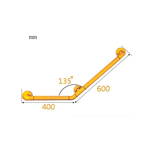 PIGE 135 degrés sans barrière Salle de bain Accoudoir Toilettes Toilettes Toilettes Anti-dérapant Poignée Antibactérien ( taille : 40*60cm )