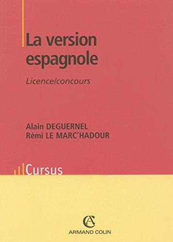La version espagnole - Licence/Concours