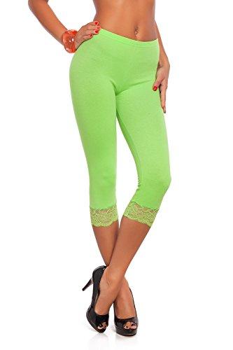 futuro fashion court 3 4 longueur Leggings coton avec dentelle tous coloris    TOUTES LES c6f8cbc7f202