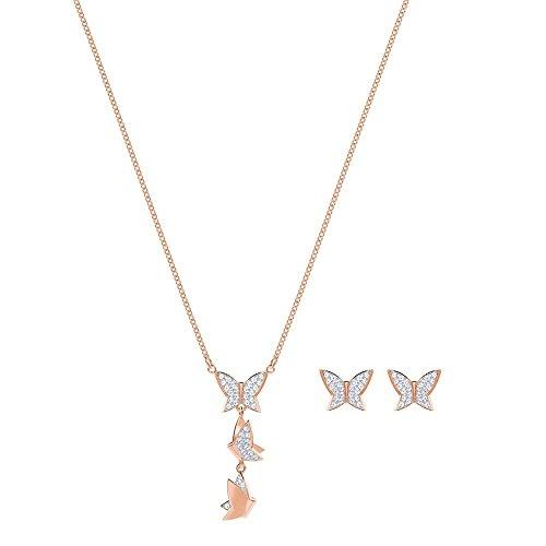 Swarovski Lilia Set Crystal Set ketting en oorbellen 5382365 (Lengte: 38 cm)