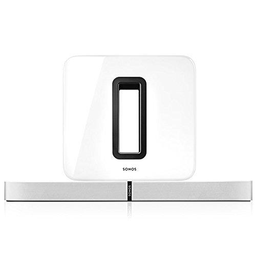 Sonos 3.1 Heimkino Set, System mit einer Playbase und einem SUB (Weiß)