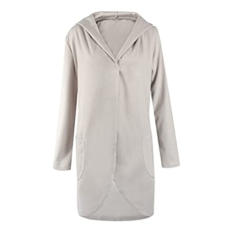 Cardigan Damen Lang Winter Mit Kapuze Große Größen Strickjacken Kimono Langarmshirt Elegant Loose Normallacks Warm Trenchcoat Mantel Parka In A Pocket Trend Outwear Jacke