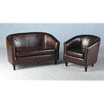 LUXURY 2 SEATER SMALL TUB SOFA WITH FREE TUB CHAIR BY FURNITURE ...