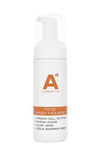 Best Face-wash Für Männer (A4 - FACE WASH MOUSSE | Reinigungssaum, Make-Up Entferner | Gesichtsreinigung | Arganblatt-Zellextrakt und Aloe Vera (150ml))