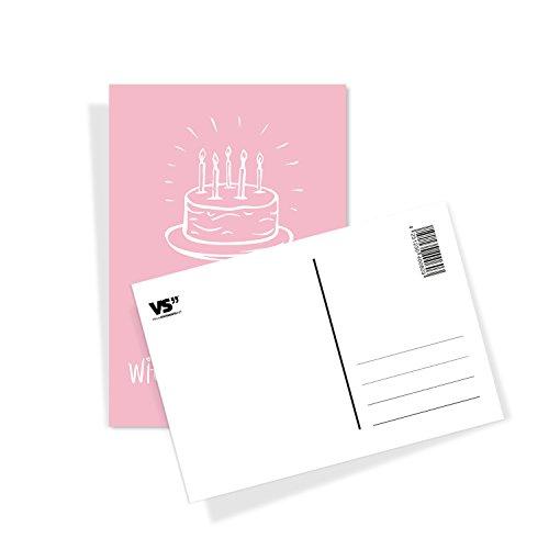 20er Postkarten Set GLÜCKWUNSCHKARTEN mit Sprüchen von VISUAL STATEMENTS® / 2 x 10 verschiedene hochwertige Geburtstagskarten / 350g schwerer Bilderdruckkarton / 12 x 17,5 cm / XXL Format / Set GEBURTSTAG - 2