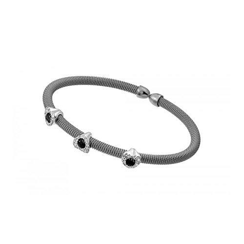 bracelet-plaque-rhodium-argent-sterling-chaine-pop-corn-italien-accents-perles-ovales