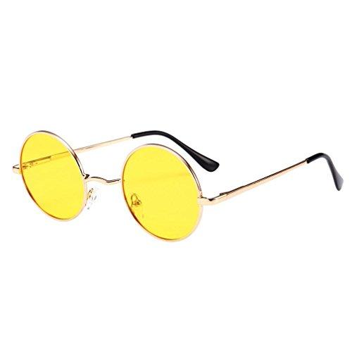 Dragon868 Unisex Frauen Männer Vintage Retro Brille Mode Aviator Spiegel Objektiv Sonnenbrille (D)